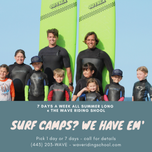 gourp of young teens and kids participating in Wave Riding School surf camp